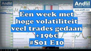 Een week met hoge volatiliteit veel trades gedaan 196€ S01 E10 1 300x169